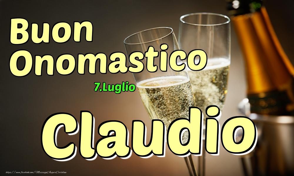 Cartoline di onomastico - 7.Luglio - Buon Onomastico Claudio!