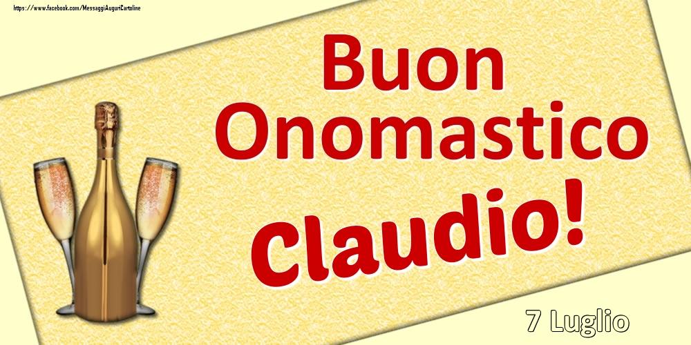 Cartoline di onomastico - Buon Onomastico Claudio! - 7 Luglio