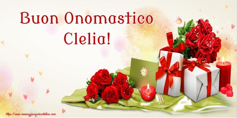 Cartoline di onomastico - Buon Onomastico Clelia!
