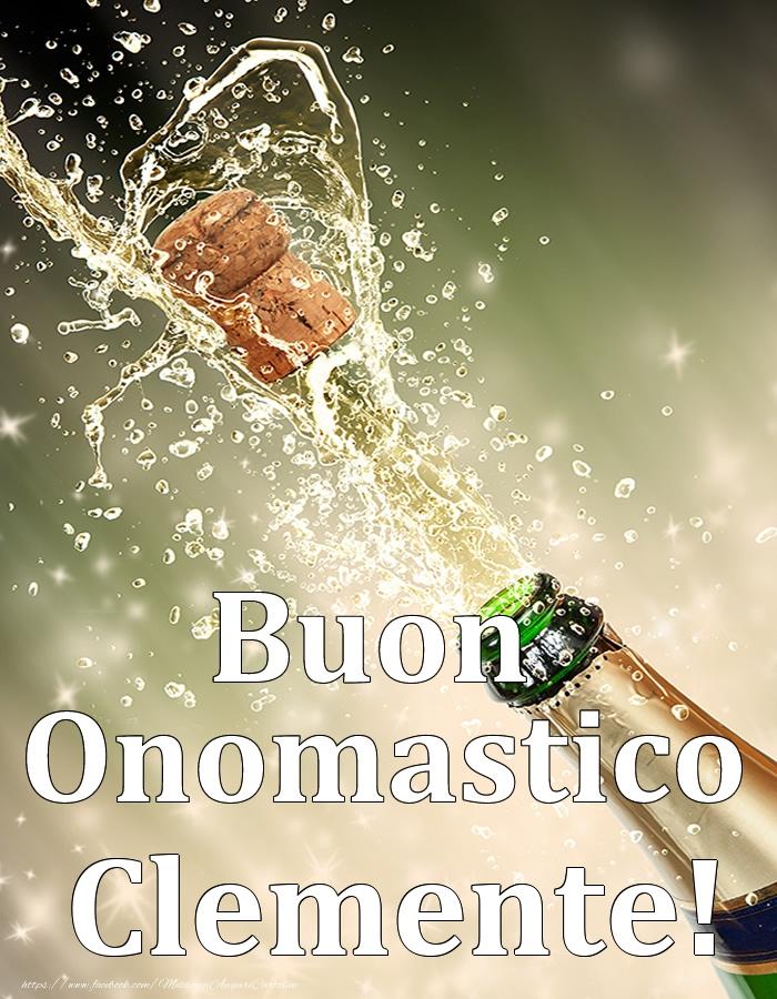 Cartoline di onomastico - Buon Onomastico Clemente!