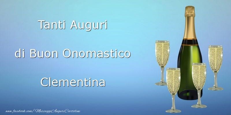 Cartoline di onomastico - Tanti Auguri di Buon Onomastico Clementina