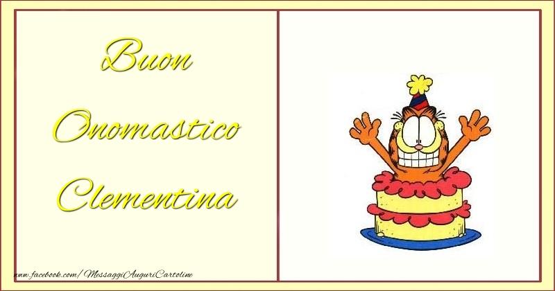 Cartoline di onomastico - Buon Onomastico Clementina