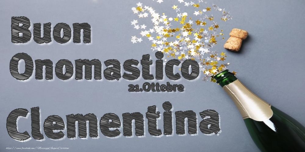 Cartoline di onomastico - 21.Ottobre - Buon Onomastico Clementina!