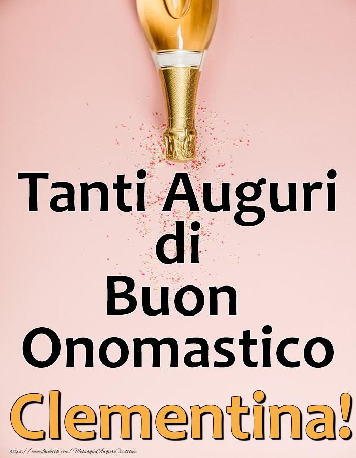 Cartoline di onomastico - Tanti Auguri di Buon Onomastico Clementina!