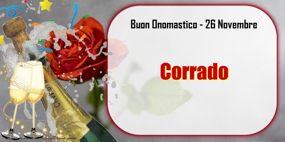 Cartoline di onomastico - Buon Onomastico, Corrado! 26 Novembre