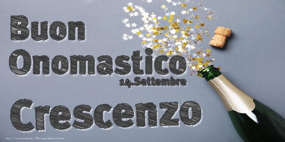 Cartoline di onomastico - 14.Settembre - Buon Onomastico Crescenzo!