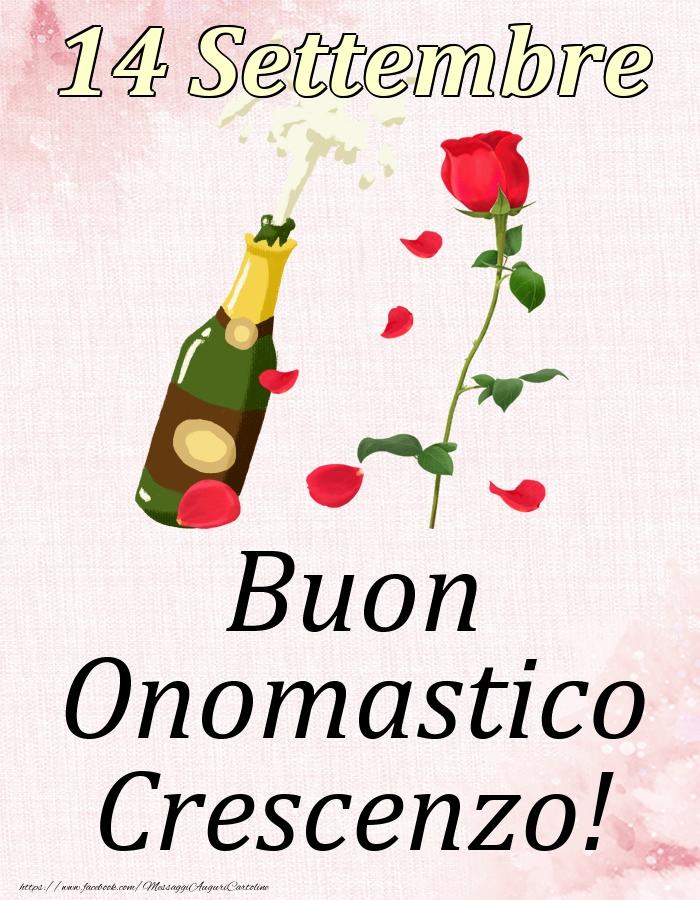 Cartoline di onomastico - Buon Onomastico Crescenzo! - 14 Settembre