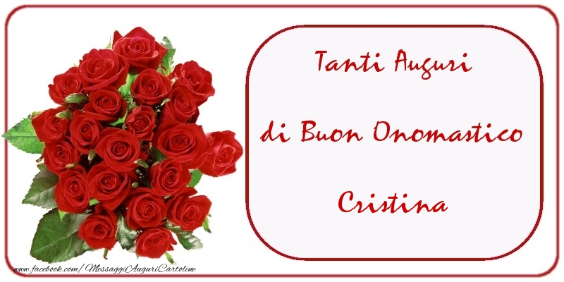 Cartoline di onomastico - Tanti Auguri di Buon Onomastico Cristina