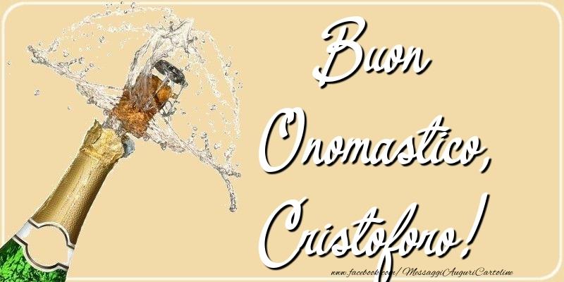 Cartoline di onomastico - Buon Onomastico, Cristoforo