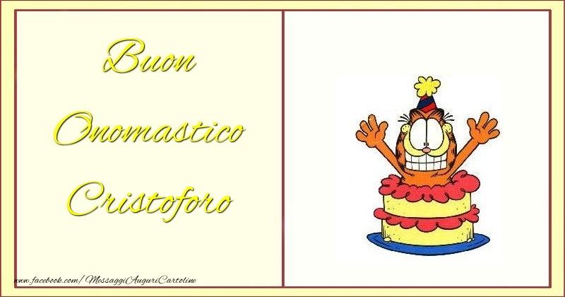 Cartoline di onomastico - Buon Onomastico Cristoforo