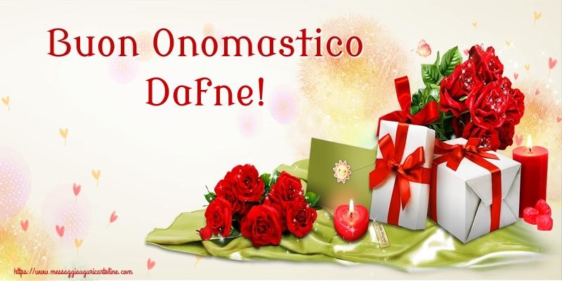 Cartoline di onomastico - Buon Onomastico Dafne!