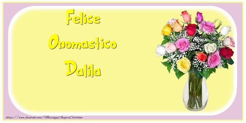 Cartoline di onomastico - Felice Onomastico Dalila
