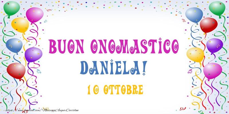 Buon Onomastico Daniela 10 Ottobre Cartoline Di Onomastico Per