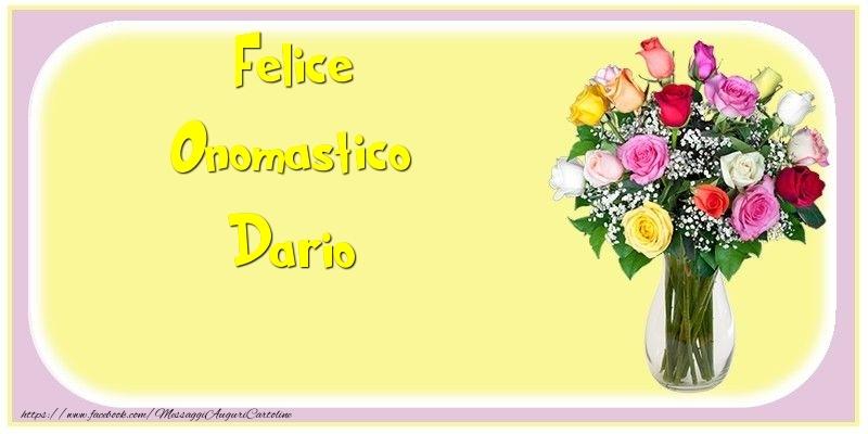Cartoline di onomastico - Felice Onomastico Dario