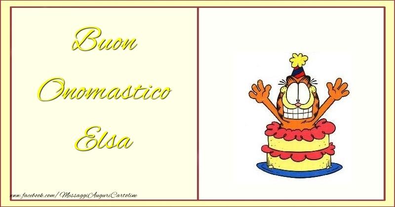 Cartoline di onomastico - Buon Onomastico Elsa