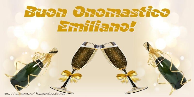 Cartoline di onomastico - Buon Onomastico Emiliano!