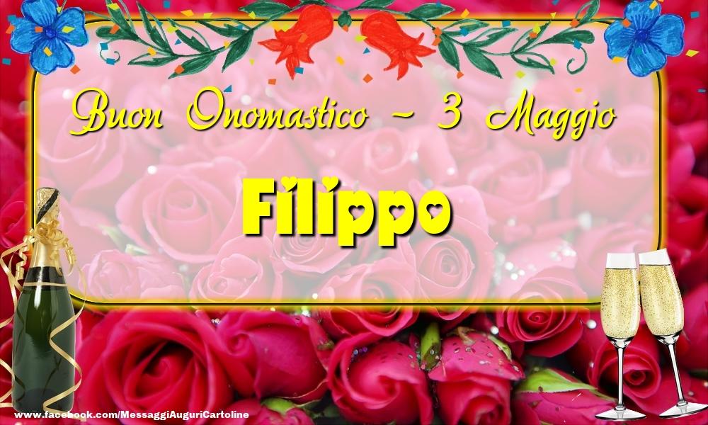 Cartoline di onomastico - Buon Onomastico, Filippo! 3 Maggio