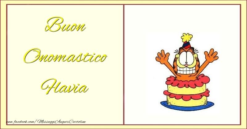Cartoline di onomastico - Buon Onomastico Flavia