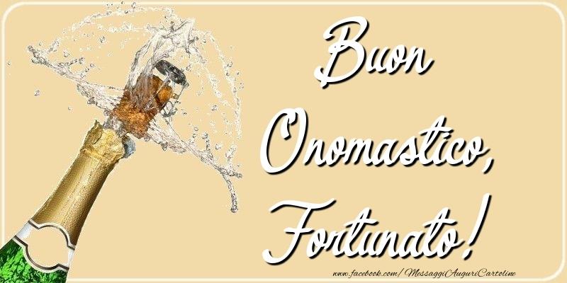 Cartoline di onomastico - Buon Onomastico, Fortunato