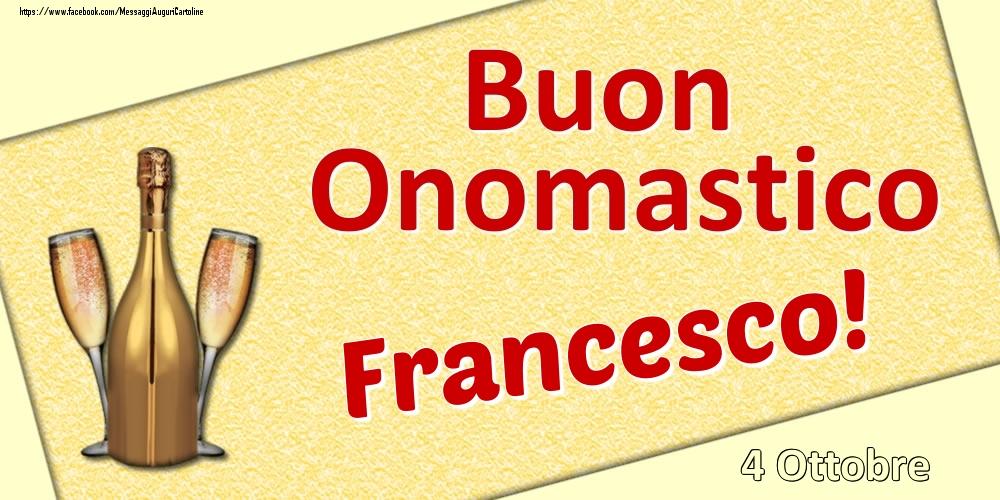 Cartoline di onomastico - Buon Onomastico Francesco! - 4 Ottobre