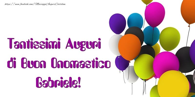 Bien connu Tanti Auguri di Buon Onomastico Gabriele - Cartoline di onomastico  XU14