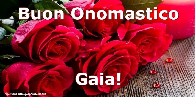 Cartoline di onomastico - Buon Onomastico Gaia!