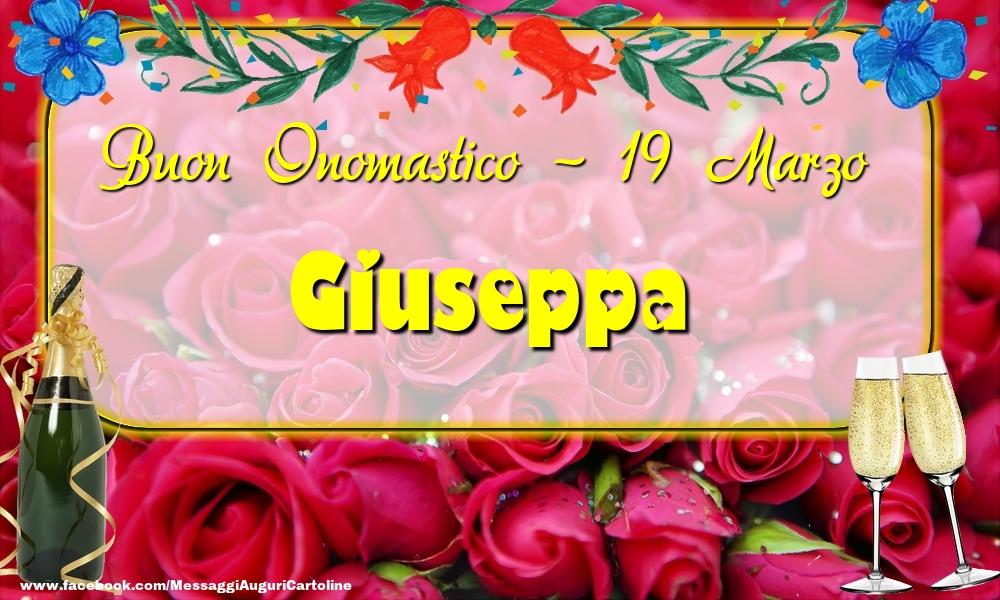 Cartoline di onomastico - Buon Onomastico, Giuseppa! 19 Marzo