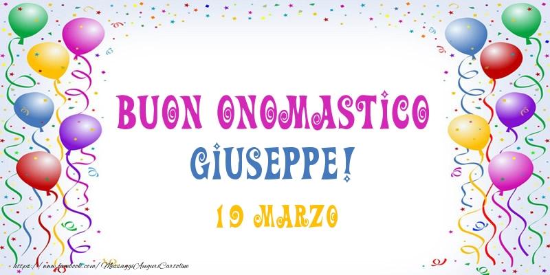 Cartoline di onomastico - Buon onomastico Giuseppe! 19 Marzo