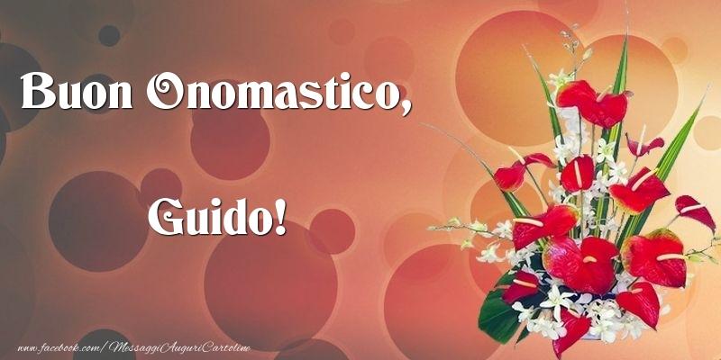 Cartoline di onomastico - Buon Onomastico, Guido
