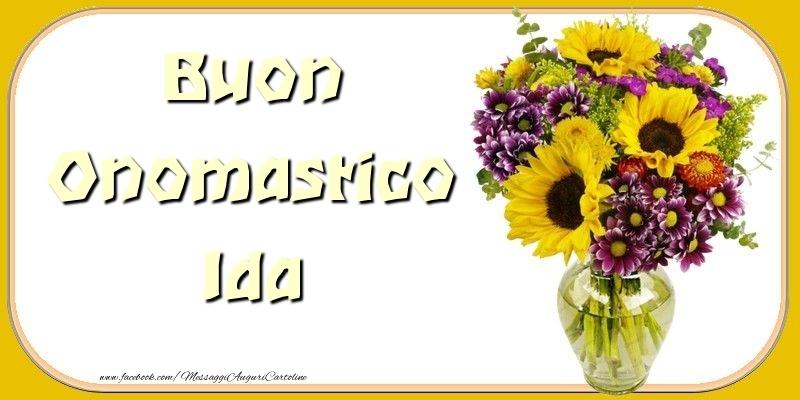 Cartoline di onomastico - Buon Onomastico Ida
