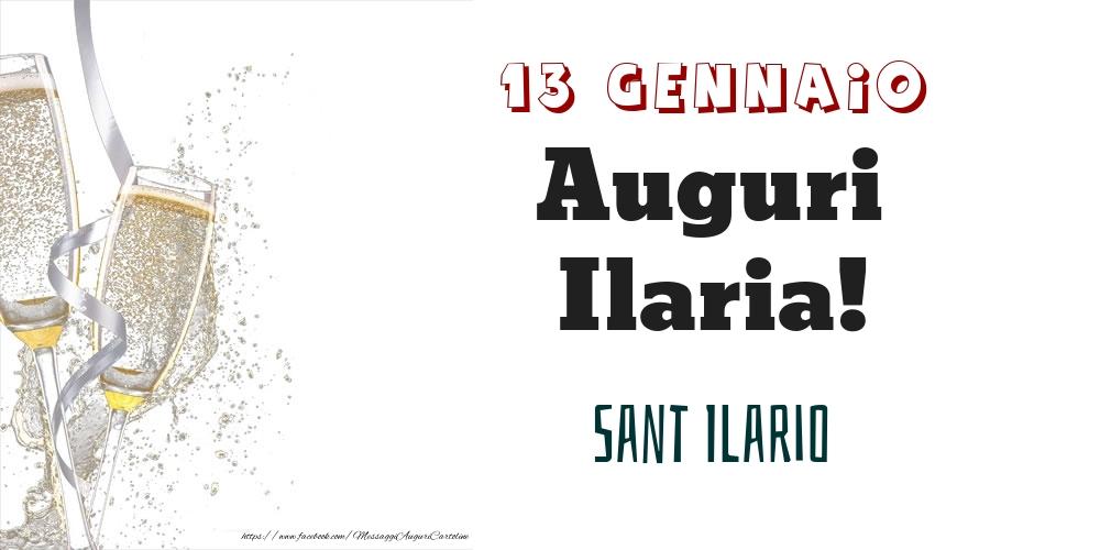 Cartoline di onomastico - Sant Ilario Auguri Ilaria! 13 Gennaio