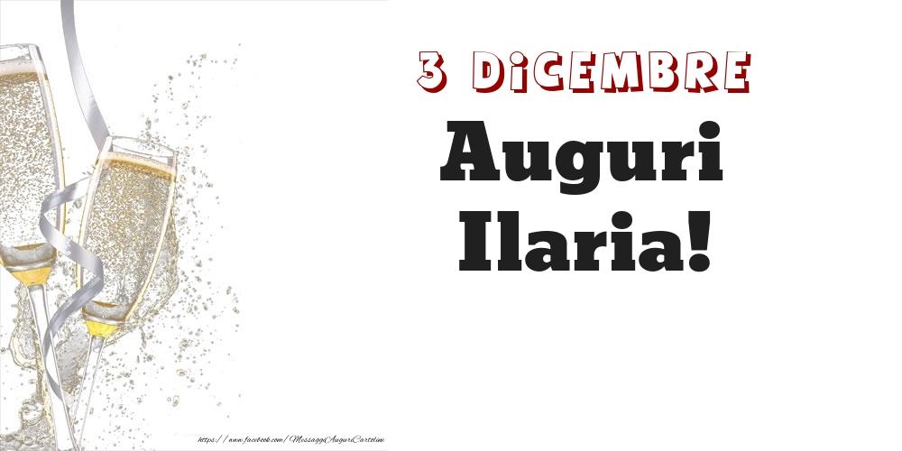 Cartoline di onomastico - Auguri Ilaria! 3 Dicembre