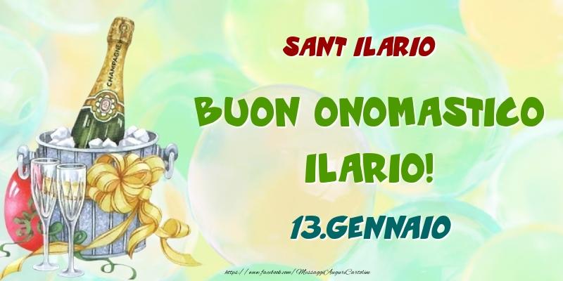 Cartoline di onomastico - Sant Ilario Buon Onomastico, Ilario! 13.Gennaio