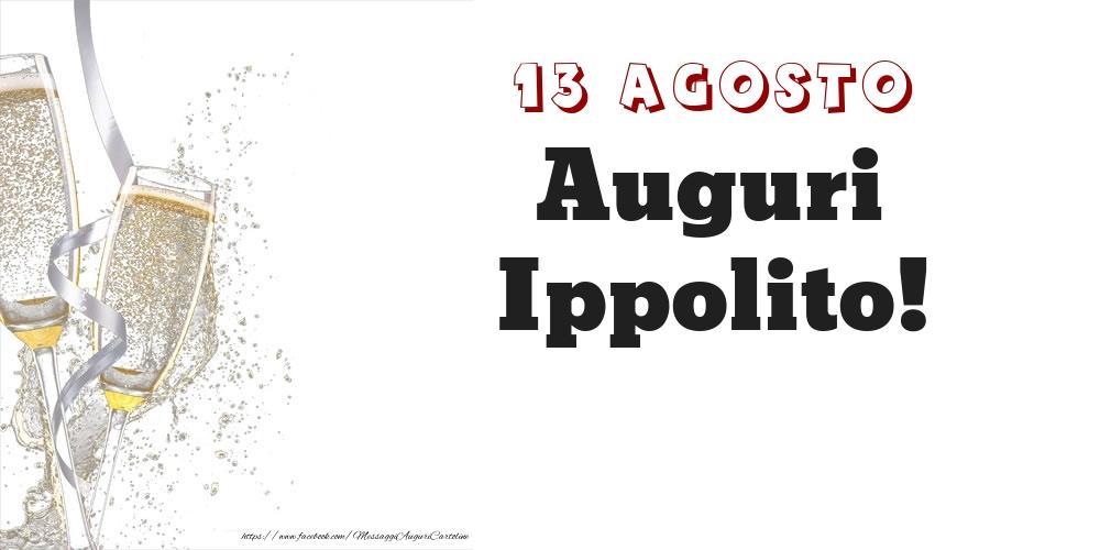 Cartoline di onomastico - Auguri Ippolito! 13 Agosto