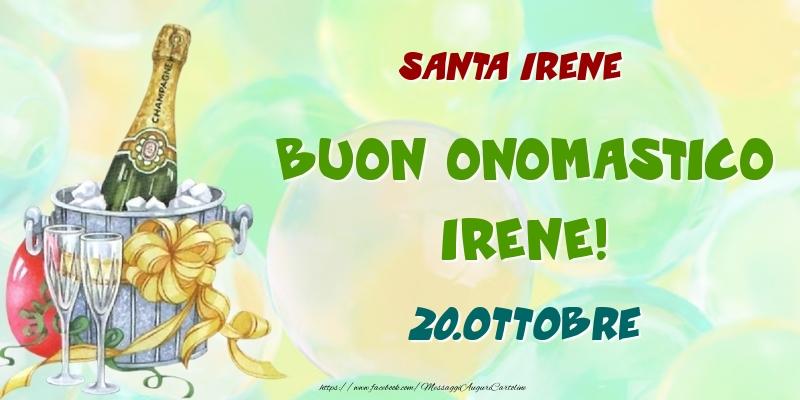 Cartoline di onomastico - Santa Irene Buon Onomastico, Irene! 20.Ottobre