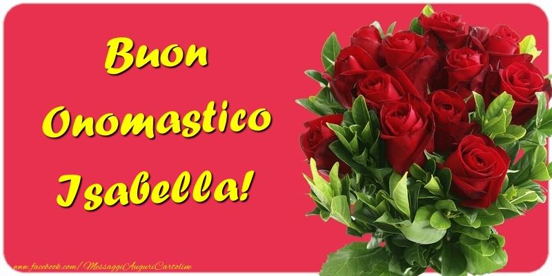 Cartoline di onomastico - Buon Onomastico Isabella