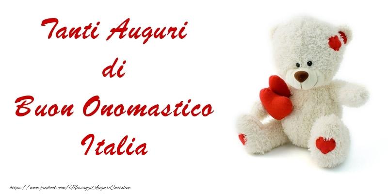 Cartoline di onomastico - Tanti Auguri di Buon Onomastico Italia