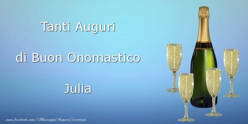 Cartoline di onomastico - Tanti Auguri di Buon Onomastico Julia