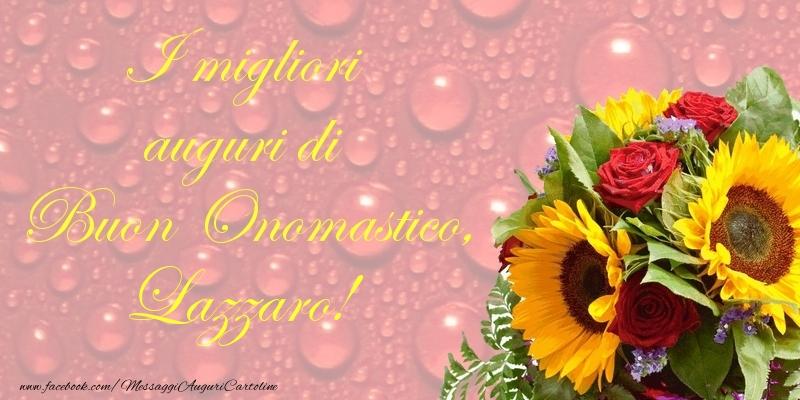 Cartoline di onomastico - I migliori auguri di Buon Onomastico, Lazzaro