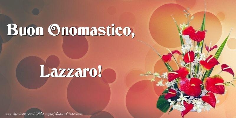 Cartoline di onomastico - Buon Onomastico, Lazzaro