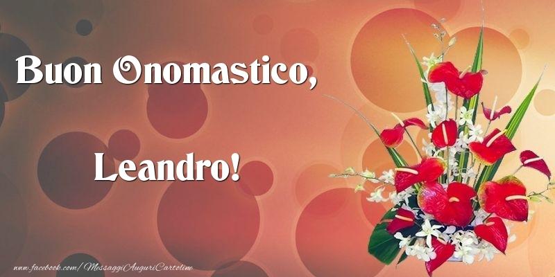 Cartoline di onomastico - Buon Onomastico, Leandro