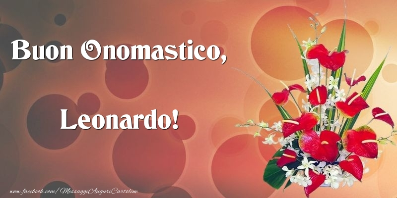 Cartoline di onomastico - Buon Onomastico, Leonardo