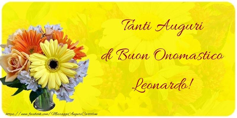 Cartoline di onomastico - Tanti Auguri di Buon Onomastico Leonardo