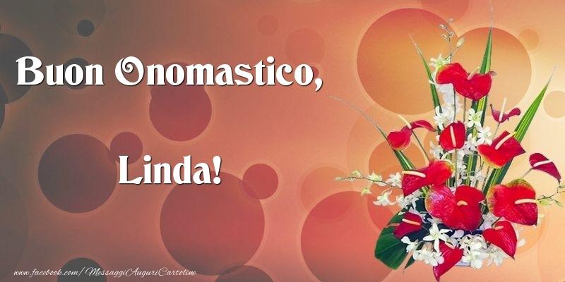 Cartoline di onomastico - Buon Onomastico, Linda