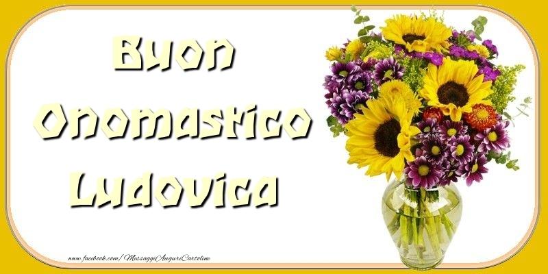 Cartoline di onomastico - Buon Onomastico Ludovica