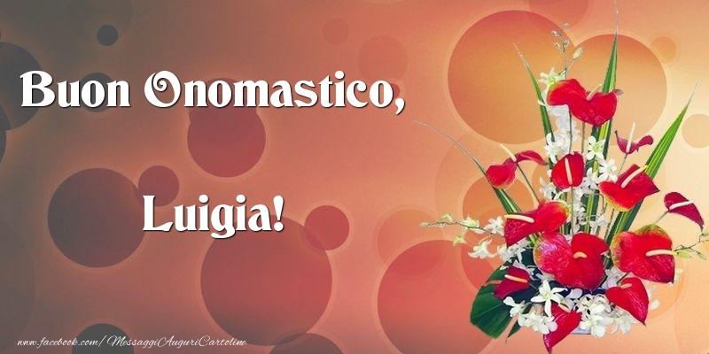 Cartoline di onomastico - Buon Onomastico, Luigia