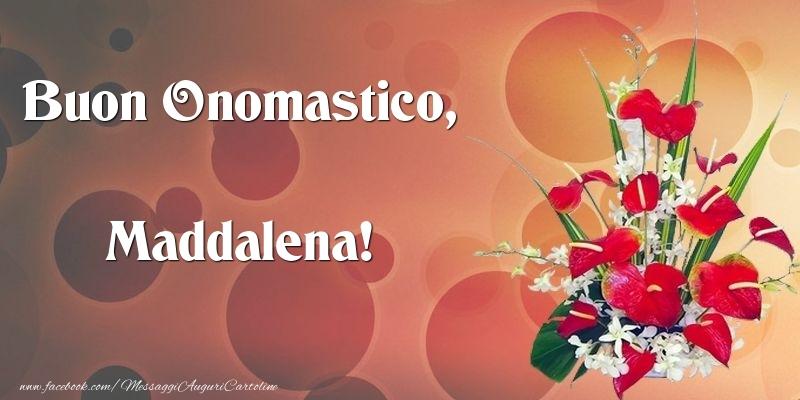 Cartoline di onomastico - Buon Onomastico, Maddalena