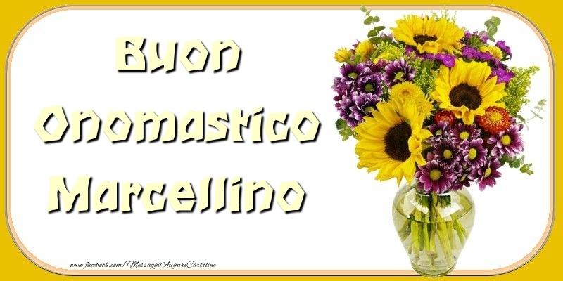 Cartoline di onomastico - Buon Onomastico Marcellino