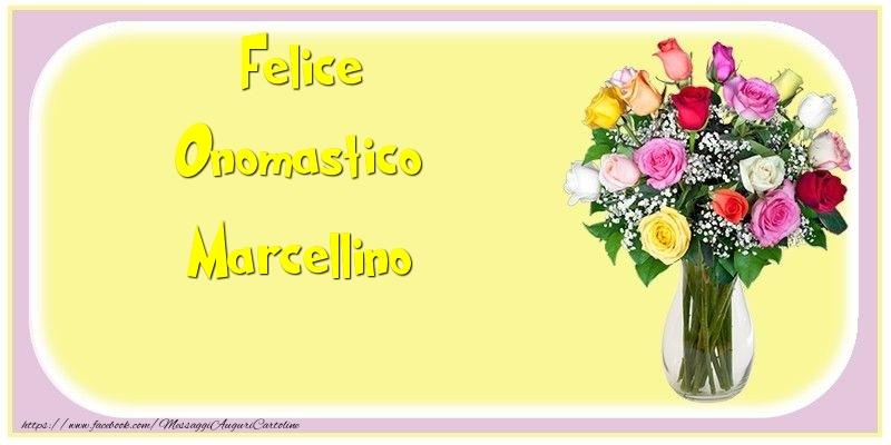 Cartoline di onomastico - Felice Onomastico Marcellino