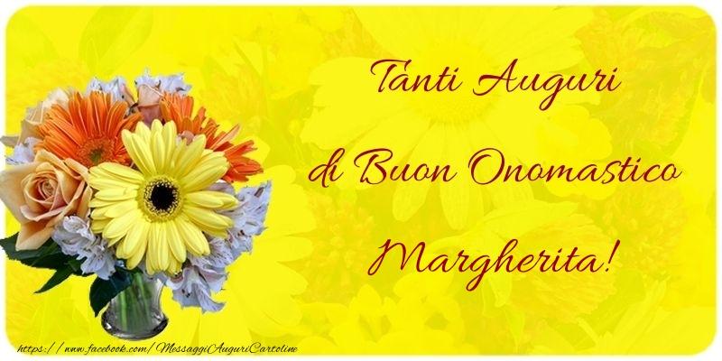 Cartoline di onomastico - Tanti Auguri di Buon Onomastico Margherita